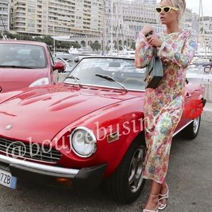 ZARA Print Sequin Dress